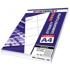 Etykieta A4 105*48(100)bia.031