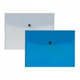 Teczka A4 kop.transp.niebieska
