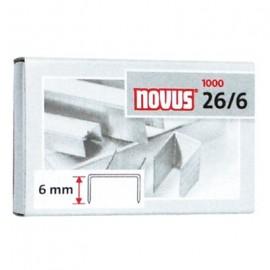 Zszywki 26/6 1000 NOVUS