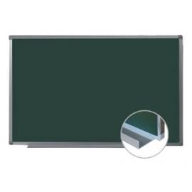 Tablica magnetyczna zielona, kredowa MEMOBOARDS  120x90 cm z półką