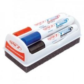 Zestaw 4 markerów suchościeralnych z gąbką Rystor